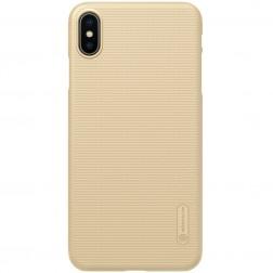 """Nillkin"" Frosted Shield dėklas - auksinis (iPhone Xs Max)"