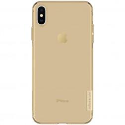 """""""Nillkin"""" Nature TPU skaidrus dėklas - rudas (iPhone Xs Max)"""