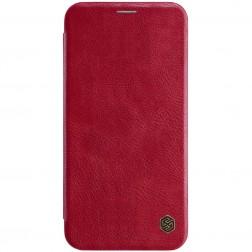 """""""Nillkin"""" Qin atverčiamas dėklas - raudonas (iPhone Xs Max)"""