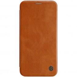 """""""Nillkin"""" Qin atverčiamas dėklas - rudas (iPhone Xs Max)"""