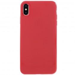 Kieto silikono dėklas - raudonas (iPhone Xs Max)