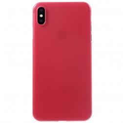 Ploniausias plastikinis dėklas - raudonas (iPhone Xs Max)