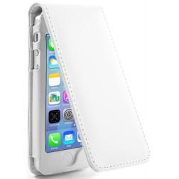 Vertikaliai atverčiamas dėklas - baltas (iPhone 5 / 5S / SE)