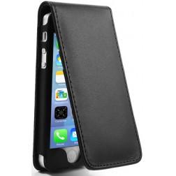 Vertikaliai atverčiamas dėklas - juodas (iPhone 5 / 5S / SE)