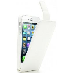 Klasikinis atverčiamas dėklas - baltas (iPhone 5 / 5S / SE)