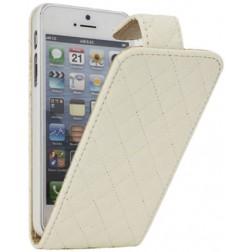 """""""Rhombus"""" atverčiamas dėklas - smėlio spalvos (iPhone 5 / 5S / SE)"""