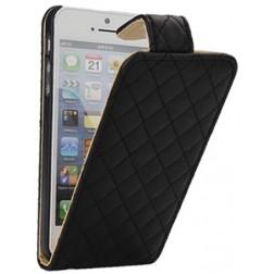 """""""Rhombus"""" atverčiamas dėklas - juodas (iPhone 5 / 5S / SE)"""
