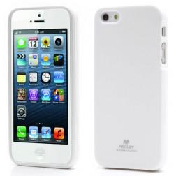 """""""Mercury"""" Color dėklas - baltas (iPhone 5 / 5S / SE)"""