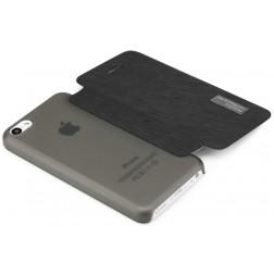 """""""ROCK"""" Elegant atverčiamas dėklas - juodas (iPhone 5C)"""