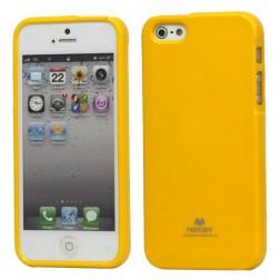 """""""Mercury"""" Color dėklas - geltonas (iPhone 5 / 5S / SE)"""