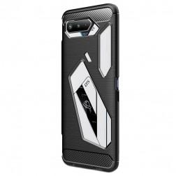 """""""Carbon"""" kieto silikono (TPU) dėklas - juodas (Rog Phone 5)"""