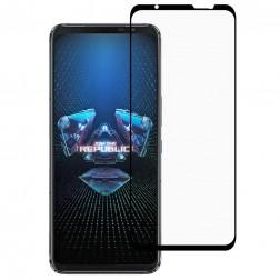 """""""Premium"""" Tempered Glass pilnai dengiantis apsauginis ekrano stiklas 0.2 mm - juodas (Rog Phone 5)"""