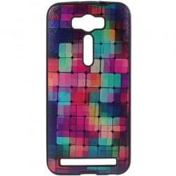 """My Colors"" kieto silikono (TPU) dėklas - ""Mozaika"" (Zenfone 2 Laser 5.0)"