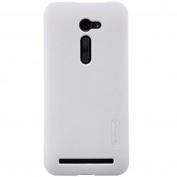 """""""Nillkin"""" Frosted Shield dėklas - baltas + apsauginė ekrano plėvelė (Zenfone 2 5.0)"""