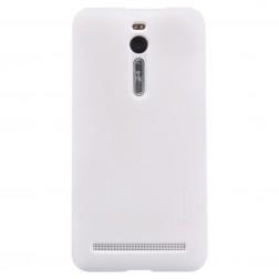 """""""Nillkin"""" Frosted Shield dėklas - baltas + apsauginė ekrano plėvelė (Zenfone 2 5.5)"""