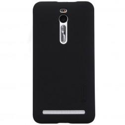 """""""Nillkin"""" Frosted Shield dėklas - juodas + apsauginė ekrano plėvelė (Zenfone 2 5.5)"""