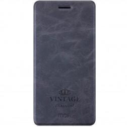 """""""Mofi"""" Vintage atverčiamas dėklas - juodas (Zenfone 3 5.5)"""