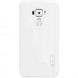 """""""Nillkin"""" Frosted Shield dėklas - baltas + apsauginė ekrano plėvelė (Zenfone 3 5.2)"""