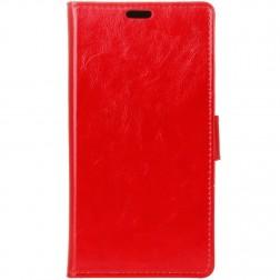 Atverčiamas dėklas - raudonas (Zenfone 3 Max)