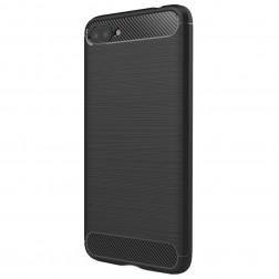 """Carbon"" kieto silikono (TPU) dėklas - juodas (Zenfone 4 Max)"