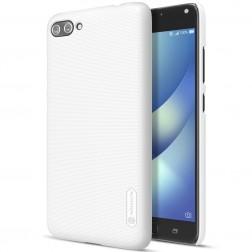 """""""Nillkin"""" Frosted Shield dėklas - baltas + apsauginė ekrano plėvelė (Zenfone 4 Max)"""