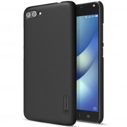 """""""Nillkin"""" Frosted Shield dėklas - juodas + apsauginė ekrano plėvelė (Zenfone 4 Max)"""