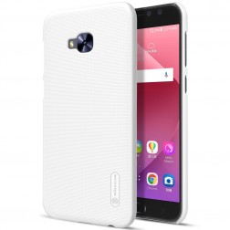 """""""Nillkin"""" Frosted Shield dėklas - baltas + apsauginė ekrano plėvelė (Zenfone 4 Selfie Pro)"""
