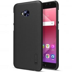 """""""Nillkin"""" Frosted Shield dėklas - juodas + apsauginė ekrano plėvelė (Zenfone 4 Selfie Pro)"""