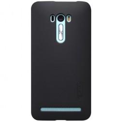 """""""Nillkin"""" Frosted Shield dėklas - juodas + apsauginė ekrano plėvelė (Zenfone Selfie)"""