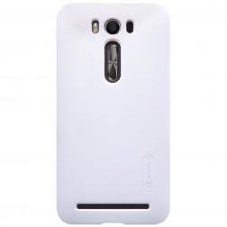 """""""Nillkin"""" Frosted Shield dėklas - baltas + apsauginė ekrano plėvelė (Zenfone 2 Laser 5.0)"""
