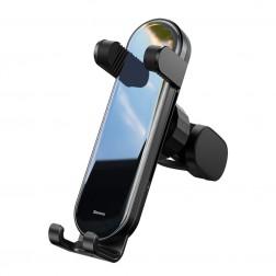 """""""Baseus"""" Penguin Gravity automobilinis telefono laikiklis (į groteles) - juodas"""