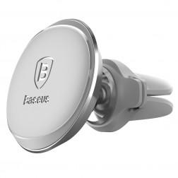 """""""Baseus"""" Magnet Mount (360°) automobilinis telefono laikiklis (į groteles) - sidabrinis"""