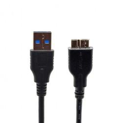 Micro USB 3.0 laidas - juodas (1 m.)