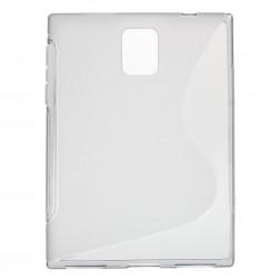 Kieto silikono (TPU) skaidrus dėklas - pilkas (Passport)