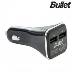 """""""Bullet"""" automobilinis įkroviklis - juodas (4.8 A)"""