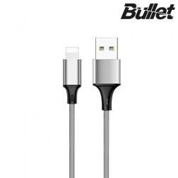 """Bullet"" Lightning USB laidas - pilkas (1 m.)"