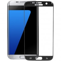 """""""Calans"""" 9H Tempered Glass pilnai dengiantis apsauginis ekrano stiklas 0.2 mm - juodas (Galaxy S7 Edge)"""