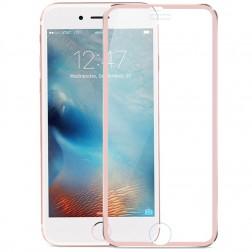 """""""Calans"""" 9H Tempered Glass pilnai dengiantis apsauginis ekrano stiklas 0.2 mm - rožinis (iPhone 7 Plus / 8 Plus)"""