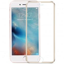 """""""Calans"""" 9H Tempered Glass pilnai dengiantis apsauginis ekrano stiklas 0.2 mm - auksinis (iPhone 7)"""