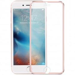 """""""Calans"""" 9H Tempered Glass pilnai dengiantis apsauginis ekrano stiklas 0.2 mm - rožinis (iPhone 7 / 8)"""