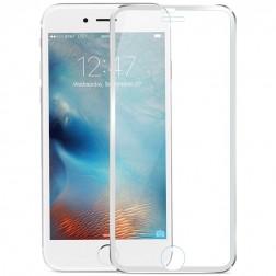 """""""Calans"""" 9H Tempered Glass pilnai dengiantis apsauginis ekrano stiklas 0.2 mm - sidabrinis (iPhone 7 Plus / 8 Plus)"""