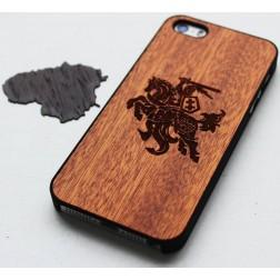 """""""Crafted Cover"""" natūralaus medžio dėklas - Vytis (iPhone 5 / 5s / SE)"""
