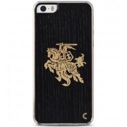 """""""Crafted Cover"""" natūralaus medžio dėklas - Juodas Vytis (iPhone 5 / 5S / SE)"""