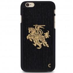"""""""Crafted Cover"""" natūralaus medžio dėklas - Juodas Vytis (iPhone 6 Plus / 6s Plus)"""