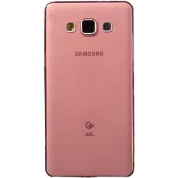 Ploniausias TPU skaidrus dėklas - raudonas (Galaxy A5 2015)