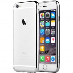 """""""Devia"""" Glitter dėklas - skaidrus, sidabrinis + apsauginis ekrano stiklas (iPhone 6 / 6S)"""
