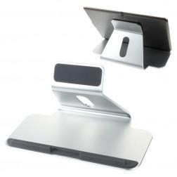 """""""Deluxe"""" universalus sidabrinis planšetės laikiklis - stovas"""