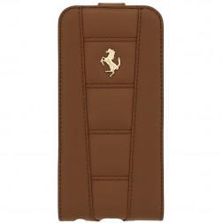 """""""Ferrari"""" 458 vertikaliai atverčiamas odinis dėklas - rudas (iPhone 6 / 6s)"""