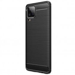 """""""Carbon"""" kieto silikono (TPU) dėklas - juodas (Galaxy A12)"""