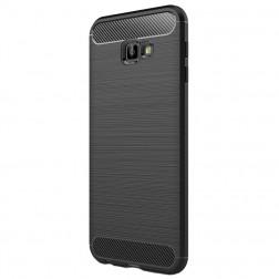 """""""Carbon"""" kieto silikono (TPU) dėklas - juodas (Galaxy J4+)"""